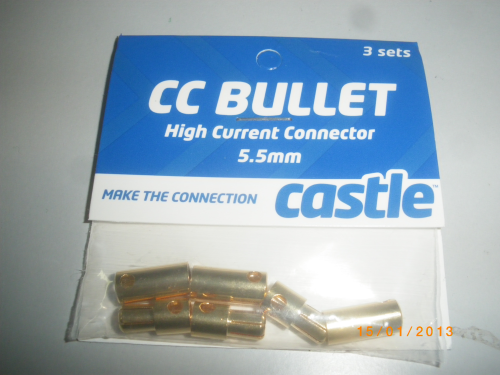 CC-CC Bullet 5.5mm CASTLE CREATIONS 5.5MM BULLET CONNECTORS