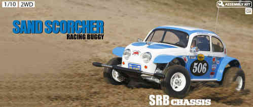 Tamiya RC Sand Scorcher Kit (2010) - 2WD Off-Road Racer (con motor y variador) 58452