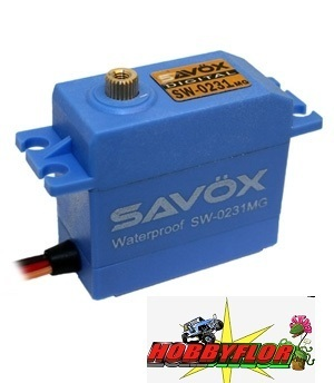 SAVOX WATERPROOF 'HIGH VOLTAGE' DIGITAL SERVO 15KG/0.17S 6V SAV-SW0231MG