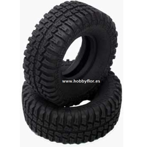 RC 4WD  0034 Dick Cepek 1.9 Mud Country Scale Tires (x2) Diametro 100mm