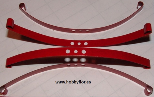 Red Super Soft Flex Leaf Springs (x4) Ballestas super blandas RC4WD-RC4ZS0570