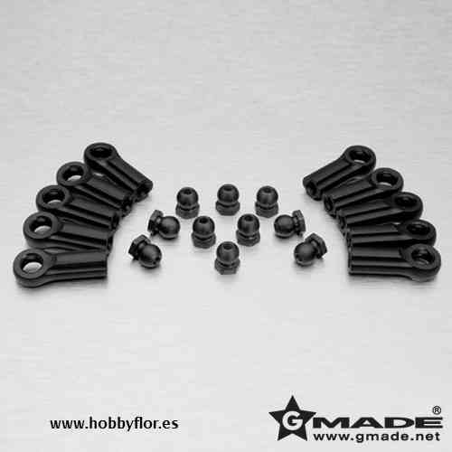 M4 Rod End with 6.8mm Steel Ball Nut (10) GM20174
