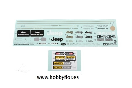 Tamiya Sticker Jeep Wrangler 9495565