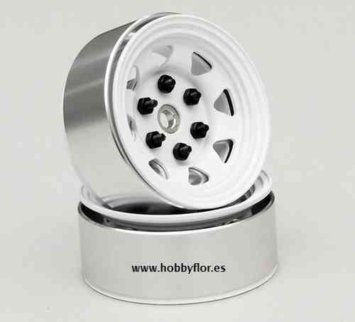 RC4WD ZW0035 1.55 Stamped Steel Beadlock Wheels White (x4)