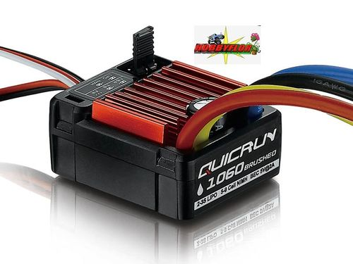 QuicRun ESC 1060 Brushed 60A for 1/10 HW30120201 waterproof Nimh-Lipo 2-3S bec 5v-2A