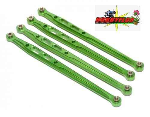 GPM Racing SCX049RG Aluminum Rear Chasis Links Parts Tree - 4 Pcs Set Green for Axial SCX10
