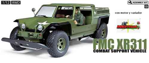 Tamiya RC FMC XR311 Combat Support Vehicle Kit 58004 con motor y variador