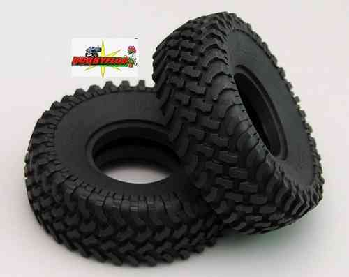RC4WD MUD THRASHERS 1.55 SCALE TIRES Z-T0100 (x2) Diameter: 93.3mm