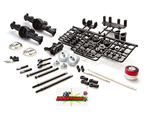 Gmade GS01 Front and Rear Axle Set GM52100 Pareja de ejes de GMade Sawback (desmontados)
