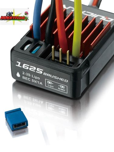 QuicRun ESC 1625 Brushed 25A for 1/16, 1/18 nimh-lipo 2-3s Waterproof HW30120000