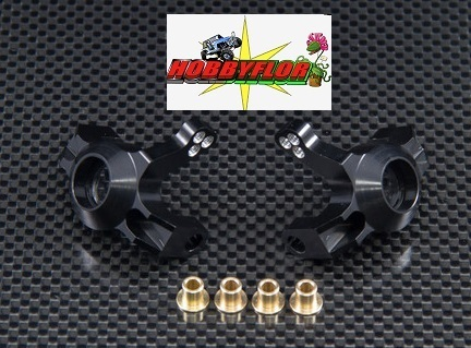 GPM WR021-BK Aluminum Steering Front Knuckles Black for Axial Wraith