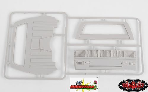 RC4WD Z-B0074 Mojave II Toyota Hilux Cab Back Panels and Grill Parts Tree (Primer Gray)