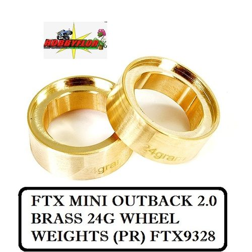 FTX MINI OUTBACK 2.0 BRASS 24G WHEEL WEIGHTS (PR) FTX9328