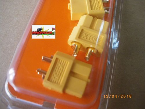 G-Force RC Connector XT60 Gold plated Male 4 pcs gf-1003-002