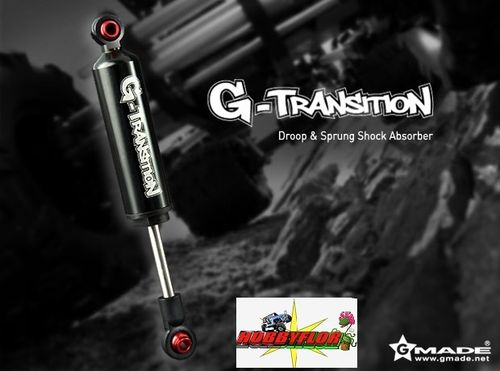 Gmade G-Transition Shock Black 80mm (4) for 1/10 Crawler Tamiya High-Lift and Axial SCX10 GM20504
