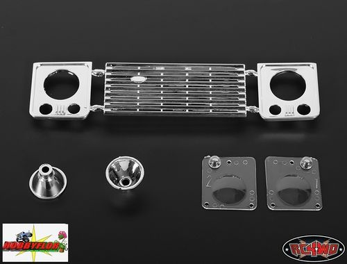 RC4WD Caladran D90 Front Grille and Light Assembly (Pon Look D90 a tu Axial dingo) Z-B0051