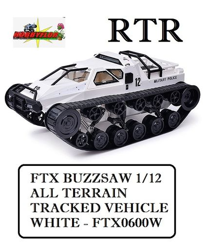 FTX BUZZSAW 1/12 ALL TERRAIN TRACKED VEHICLE - WHITE - FTX0600W