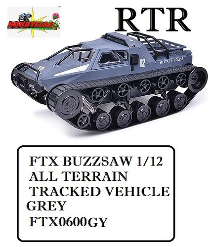 FTX BUZZSAW 1/12 ALL TERRAIN TRACKED VEHICLE - GREY - FTX0600GY
