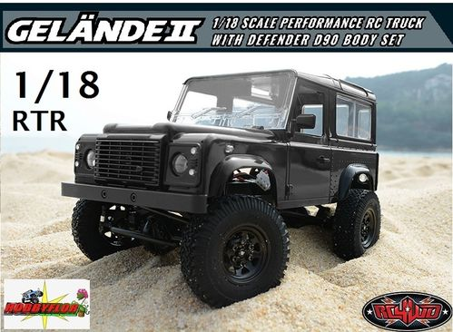 RC4WD 1/18 GELANDE II RTR WITH D90 BODY SET Z-RTR0026 (con descuento 276,45€)