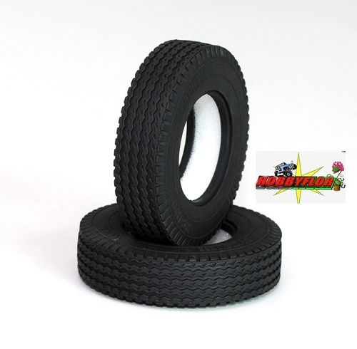"RC4WD RETREAD 1.7"" COMMERCIAL 1/14 SEMI TRUCK TIRES Z-T0033 Diametro 83,5mm"