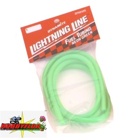 Dynamite Spritleitung 1000 mm Lightning Line. Neon Green Macarron silicona DYN2420
