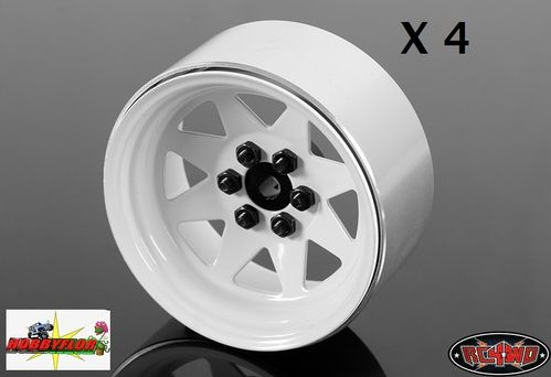 RC4WD 6 LUG WAGON 2.2 STEEL STAMPED BEADLOCK WHEELS (x4) (WHITE) Z-W0146