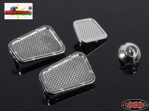 RC4WD LAND ROVER DEFENDER D90 CHROME VENTS AND FUEL FILLER PARTS Z-B0049