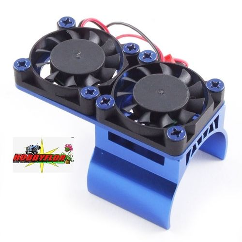 FASTRAX BLUE ALUMINIUM TWIN FAN MOTOR HEATSINK UNIT FAST36-1
