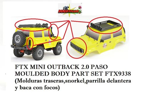 FTX MINI OUTBACK 2.0 PASO MOULDED BODY PART SET FTX9338