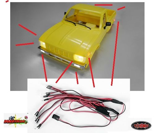 RC4WD 12 LED BASIC LIGHTING SYSTEM FOR MOJAVE / HILUX / BRUISER BODY SET  Z-E0016