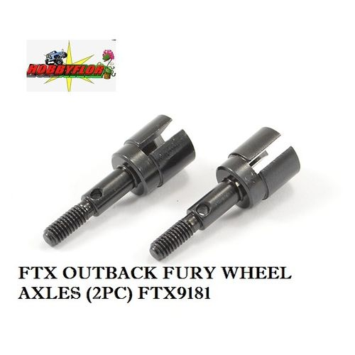 FTX OUTBACK FURY WHEEL AXLES (2PC) FTX9181