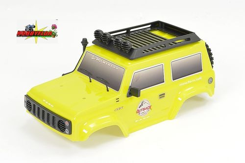 FTX MINI OUTBACK 2.0 1/24 PASO BODY YELLOW W/ACCESSORIES FTX9337Y