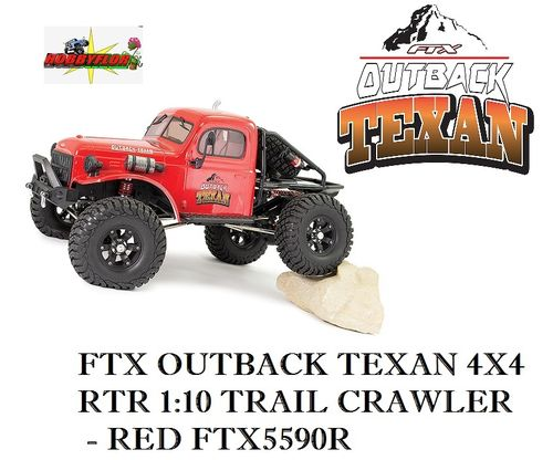 FTX OUTBACK TEXAN 4X4 RTR 1:10 TRAIL CRAWLER - RED FTX5590R