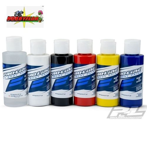 PROLINE RC BODY PAINT PACK 6pc (PRIMARY COLOURS) (Para aerografo y pincel) PL6323-00