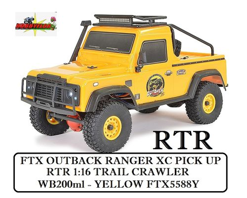 FTX OUTBACK RANGER XC PICK UP RTR 1:16 TRAIL CRAWLER - WB200ml - YELLOW FTX5588Y