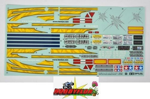 Tamiya 56344 Grand Hauler Sticker