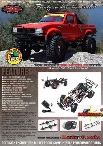 RC4WD MARLIN CRAWLER TRAIL FINDER 2 RTR MOJAVE II CRAWLER BODY SET Z-RTR0034