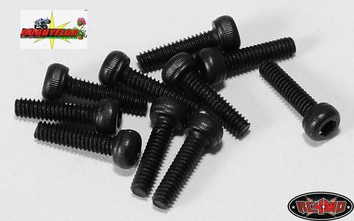 RC4WD STEEL SOCKET HEAD CAP SCREWS M2 X 8MM (10) Z-S0750
