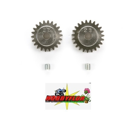 Tamiya RC AV Pinion Set 22/23T - Modulo 0.6 - 50357