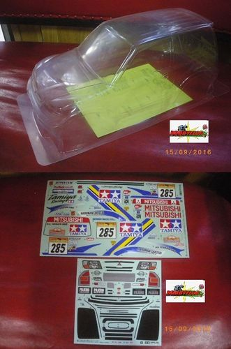Tamiya Body clear Completa + sticker the window for Pajero Rally Sport 58602 whellbase 242mm