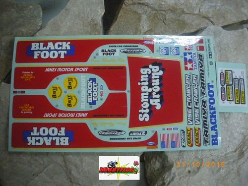 Tamiya pegatinas Sticker Blackfoot 19495887
