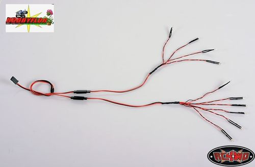 RC4WD 3MM BRIGHT WHITE 10 LED LIGHTING SYSTEM Z-E0049 7,4/11,1v compatible
