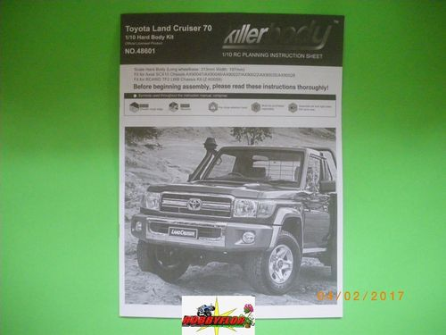 Instrucciones body Toyota Land Cruiser 70