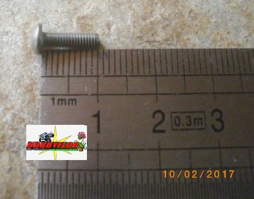 Tornillos acero inoxidable M3 ISO 7380 (M3x10mm) (12 pc)
