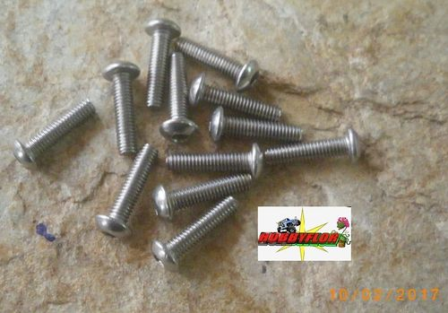 Tornillos acero inoxidable M3 ISO 7380 (M3x12mm) (12 pc)