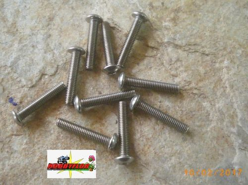 Tornillos acero inoxidable M3 ISO 7380 (M3x16mm) (10 pc)