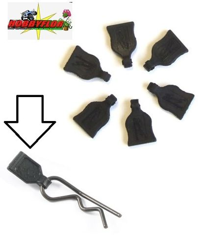 FASTRAX BODY PIN/CLIP RUBBER PULL TABS FAST206-1 (6)