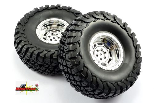 FASTRAX 1:10 CRAWLER GRANITE 2.2 SCALE WHEEL Ø140MM TYRE (CHROME) FAST1267C