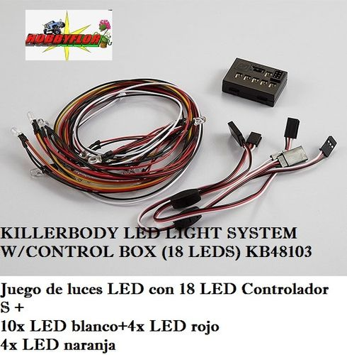 KILLERBODY LED LIGHT SYSTEM W/CONTROL BOX (18 LEDS) KB48103
