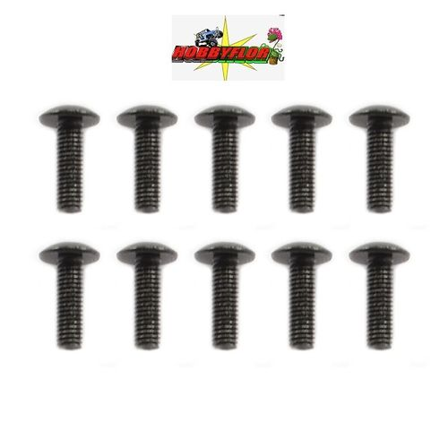 FTX MAULER BUTTON HEAD SCREW M3X10MM (10pc) FTX8815